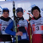 Podium Junior Dames, Marie Kromer, Julia Devaux, Lise Marseille