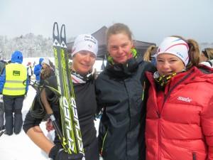 l'équipe 1avec Marie, Joelle et Justine.