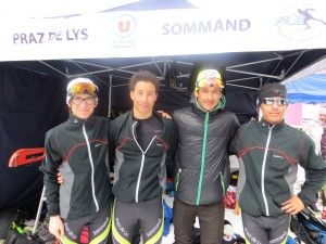 L'équipe 1 avec Valentin, Mathieu ,Nicolas et Thomas.